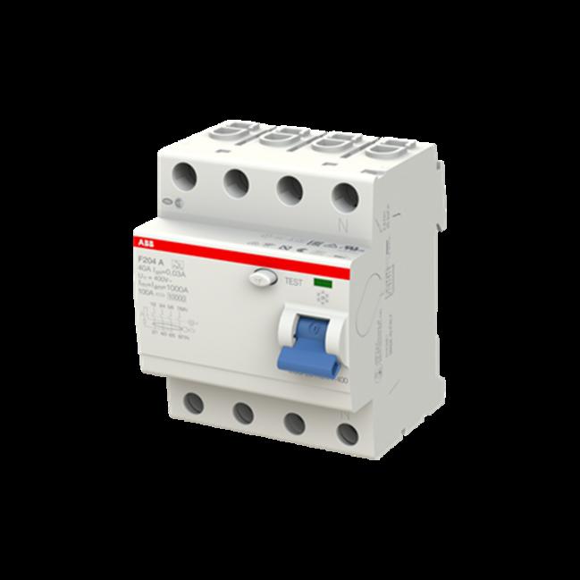 ABB F204 - Interrupteur différentiel - 4P - 40A - Type B - 30mA - Triphasé